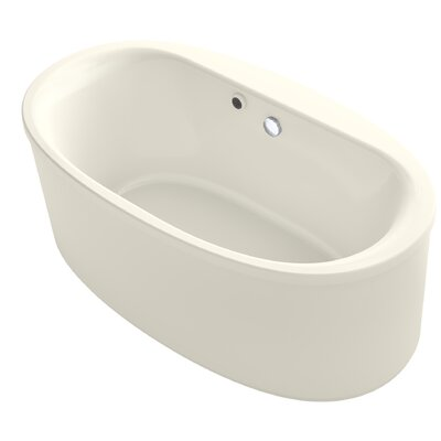 Sunstruck� 66 x 36 Oval Freestanding Soaking Bathtub Finish: Biscuit