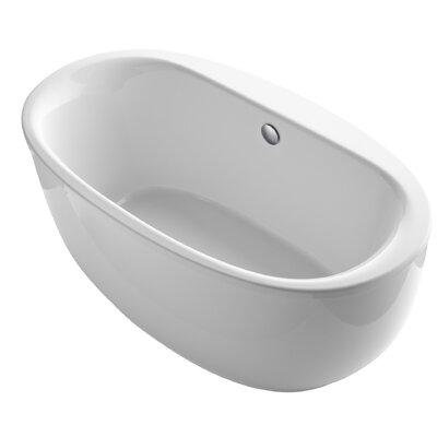 Sunstruck� 66 x 36 Oval Freestanding Soaking Bathtub Finish: White