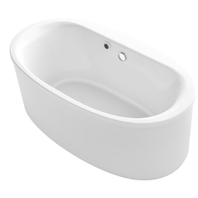 Sunstruck� 66 x 36 Oval Freestanding Soaking Bathtub Finish: White