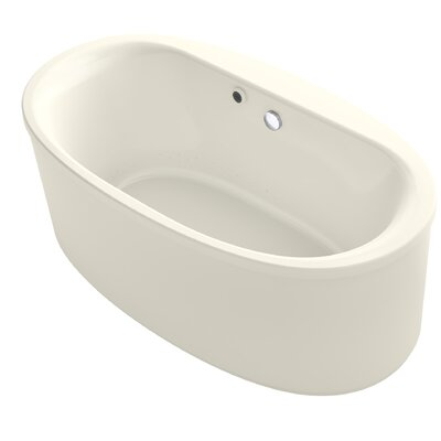 Sunstruck� 66 x 36 Oval Freestanding BubbleMassage� Air Bathtub Finish: Biscuit