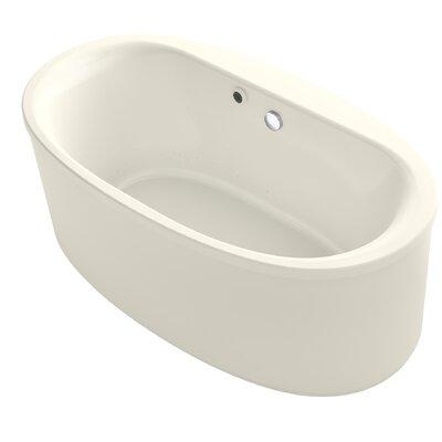 Sunstruck� 66 x 36 Oval Freestanding BubbleMassage� Air Bathtub Finish: Biscuit