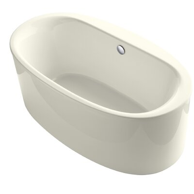 Sunstruck� 66 x 36 Oval Freestanding Air Bathtub Finish: Biscuit
