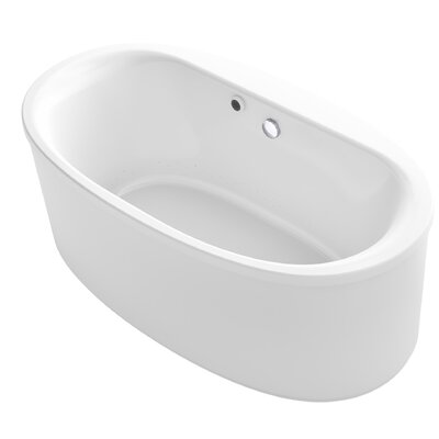 Sunstruck� 66 x 36 Oval Freestanding BubbleMassage� Air Bathtub Finish: White
