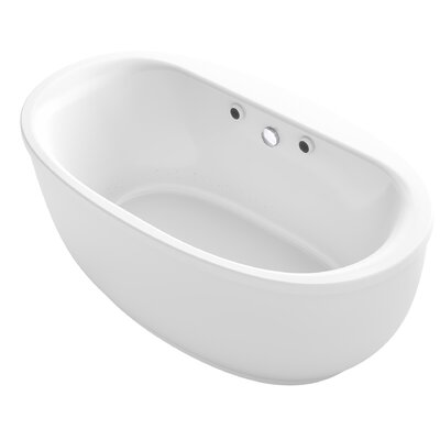 Sunstruck� 66 x 36 Oval Freestanding Air Bathtub Finish: White