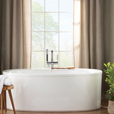 Sunstruck 66 x 36 Freestanding Soaking Bathtub Finish: White