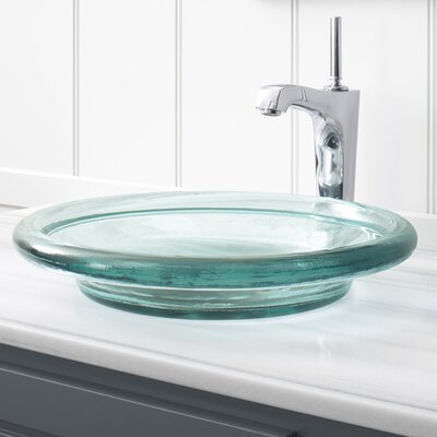 Artist Editions Spun Circular Vessel Bathroom Sink Finish: Translucent Dew