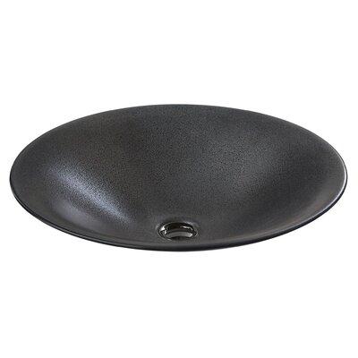 Shagreen on Carillon Wading Pool Oval Vessel Bathroom Sink Finish: Ebony Pearl