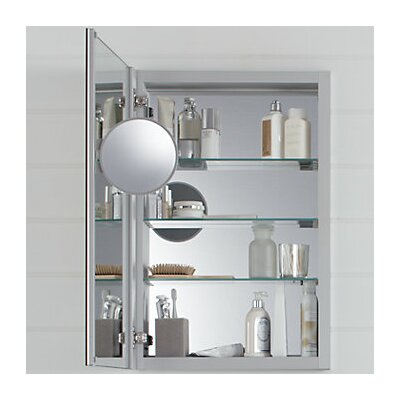 Verdera Aluminum Medicine Cabinet with Adjustable Flip Out Mirror, 20 W x 30 H
