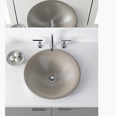 Shagreen on Carillon Wading Pool� Oval Vessel Bathroom Sink Finish: Oyster Pearl