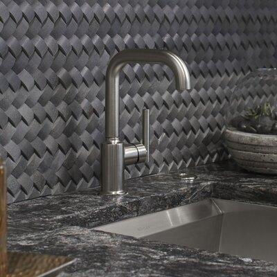 Purist Single-Hole Kitchen Sink Faucet with 6 Spout Finish: Matte Black