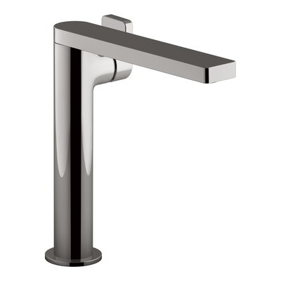 Composed� Single-Handle Bathroom Faucet with Drain Assembly Finish: Titanium
