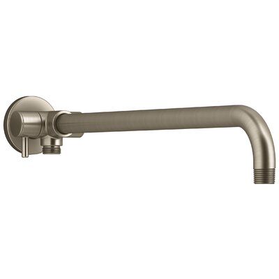 Wall-Mount Rainhead Arm with 3-Way Diverter Finish: Vibrant Brushed Bronze
