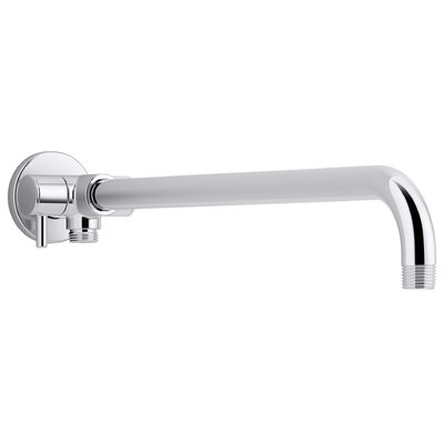 Wall-Mount Rainhead Arm with 3-Way Diverter Finish: Polished Chrome