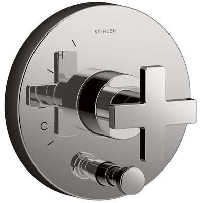 Composed Diverter Faucet Trim Cross Handle Finish: Titanium