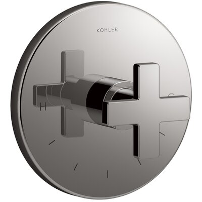 Composed� Thermostatic Faucet Trim with Cross Handle Finish: Titanium