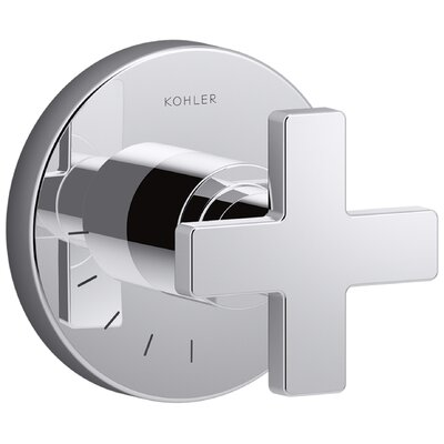 Composed� Volume Control Faucet Trim with Cross Handle Finish: Polished Chrome