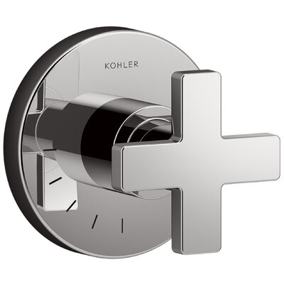 Composed� Volume Control Faucet Trim with Cross Handle Finish: Titanium