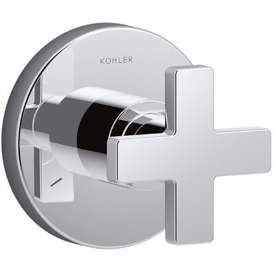 Composed� Diverter Faucet Trim with Cross Handle Finish: Polished Chrome