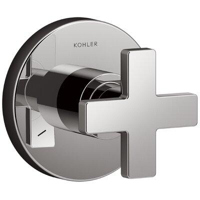Composed� Diverter Faucet Trim with Cross Handle Finish: Titanium