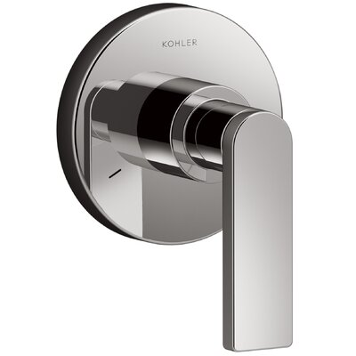 Composed� Diverter Faucet Trim with Lever Handle Finish: Titanium