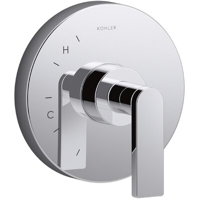 Composed� Thermostatic Faucet Trim with Lever Handle Finish: Polished Chrome