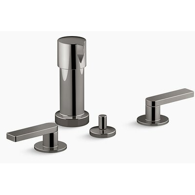 Composed� 2 Widespread Vertical Bidet Faucet Finish: Titanium