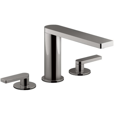 Composed� Widespread Double Handle Bathroom Faucet Finish: Titanium