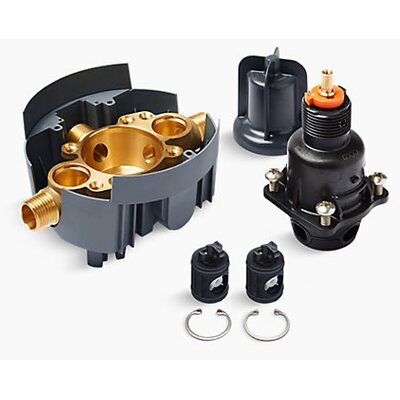 Rite-Temp� Pressure-Balancing Valve Body and Cartridge Kit with Service Stops