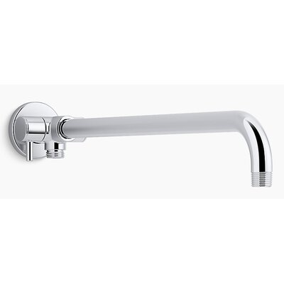 Wall-Mount Rainhead Arm with 2-Way Diverter Finish: Polished Chrome