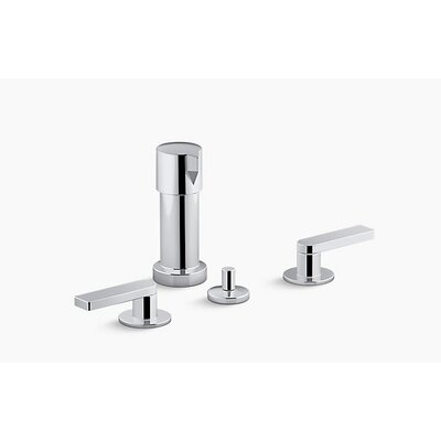 Composed� 2 Widespread Vertical Bidet Faucet Finish: Polished Chrome