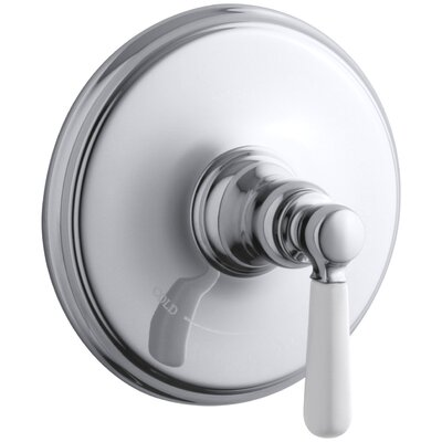 Bancroft Valve Trim with Ceramic Lever Handle for Thermostatic Valve, Requires Valve Finish: Polished Chrome