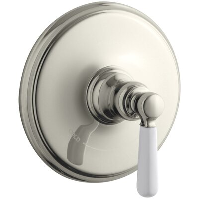 Bancroft Valve Trim with Ceramic Lever Handle for Thermostatic Valve, Requires Valve Finish: Vibrant Polished Nickel