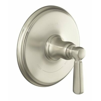 Bancroft Valve Trim with Metal Lever Handle for Thermostatic Valve, Requires Valve Finish: Vibrant Brushed Nickel