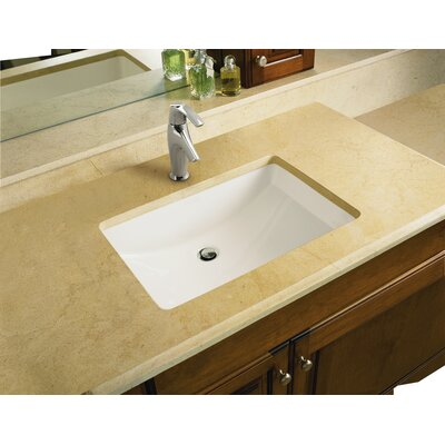 Ladena Ceramic Rectangular Undermount Bathroom Sink with Overflow Sink Finish: White