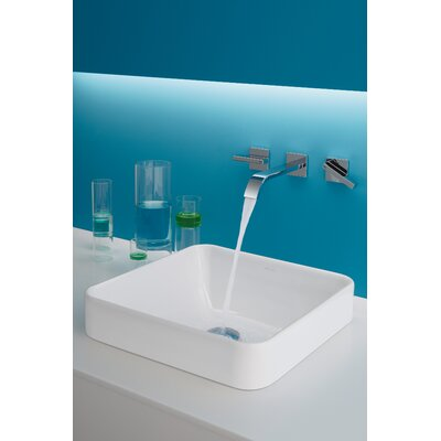 Vox Square Vessel Bathroom Sink Finish: White