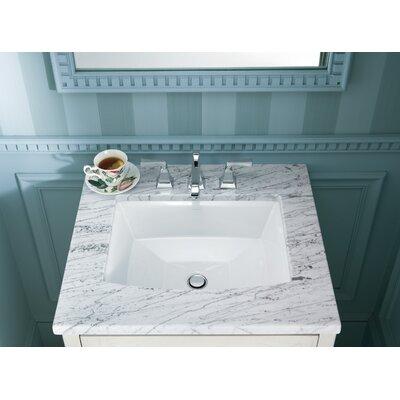 Archer Rectangular Undermount Bathroom Sink Sink Finish: White