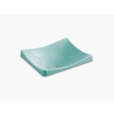 Demilav Wading Pool Specialty Vessel Bathroom Sink Sink Finish: Vapour Green