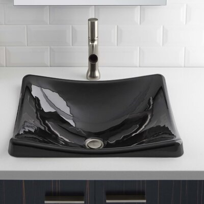 Demilav Wading Pool Specialty Vessel Bathroom Sink Sink Finish: Black Black