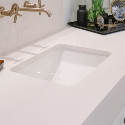 Ladena Rectangular Undermount Bathroom Sink Finish: White