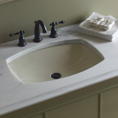 Kelston Rectangular Undermount Bathroom Sink Sink Finish: White