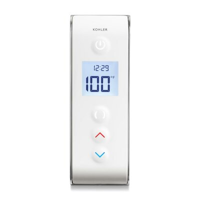 Dtv Prompt Digital Shower Interface with Eco-Mode Diverter, Portrait Setting Finish: White