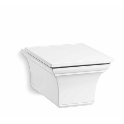 Memoirs® One-Piece Elongated Dual-Flush Wall-Hung Toilet Finish: White