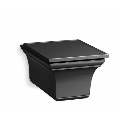 Memoirs® One-Piece Elongated Dual-Flush Wall-Hung Toilet Finish: Black