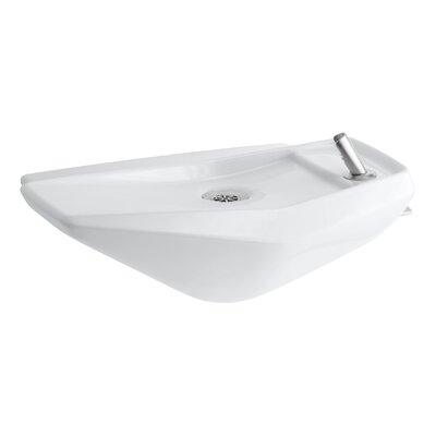 Serra Wall-Mounted Drinking Fountain Finish: White
