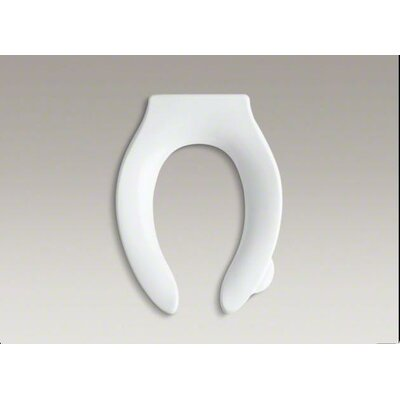 Stronghold Elongated Toilet Seat with Integrated Handle and Quiet-Close Check Hinge Finish: White