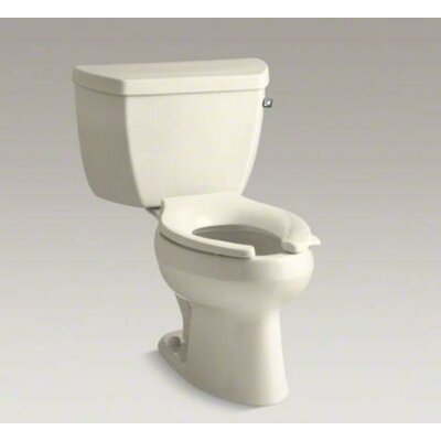 Wellworth Classic Two-Piece Elongated 1.0 GPF Toilet Pressure Lite Flushing Technology with Tank Cover Locks and Right-Hand Trip Lever, Less Seat Finish: Almond