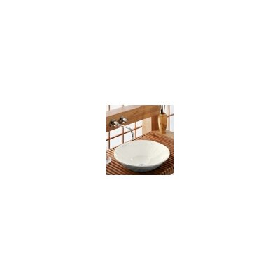 Conical Bell Above-Counter Circular Vessel Bathroom Sink Finish: Biscuit