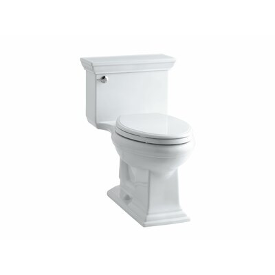 Memoirs Stately Comfort Height One-Piece Elongated 1.28 GPF Toilet with Aquapiston Flush Technology and Left-Hand Trip Lever Finish: White