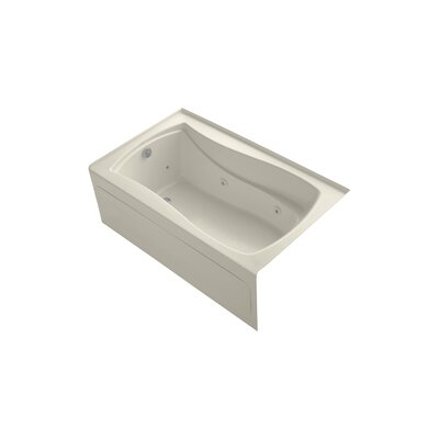 Mariposa 60 x 36 Alcove Whirlpool Finish: Almond, Drain Location: Left