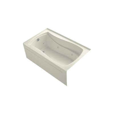 Mariposa 60 x 36 Alcove Whirlpool Finish: Biscuit, Drain Location: Left
